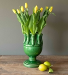 Green Glazed Tulip Vase