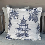 Blue Pagoda Pillow