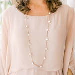 Goldbug Long Pearl Necklace