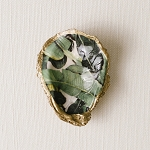 Grit & Grace Jungle Banana Leaf Decoupage Oyster Ring Dish