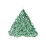 Vietri Lastra Holiday Figural Tree Small Plate