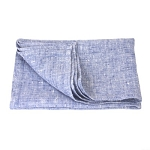 Thick Linen Hand Towel - Stonewashed - Heather Light Blue