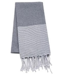 Main St. Collection Black Striped Towel/Blanket
