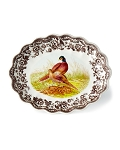 Woodland by Spode Oval Fluted Pheasant Dish