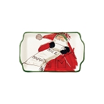 Vietri Old St. Nick Rectangular Plate - Naughty or Nice