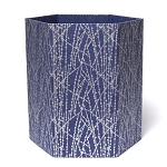 Arcadia Home Recycled Storage Basket in Blue Dot Lines