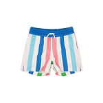 Beaufort Bonnet Company  Turtle Bay Swim Trunks Broad Street Stripe with Barbados Blue