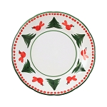 Vietri Uccell Rosso Dinner Plate