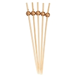 GOLD 6 INCH WOOD PARTY PICK/30PK