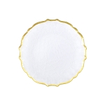 Vietri Baroque Glass Clear Salad Plate