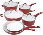 Bialetti Aeternum 10 Piece Cookware Set (Red)