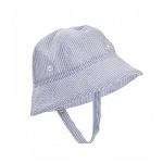 The Beaufort Bonnet Company Beaufort Bucket Seersucker in Breakers Blue