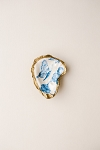 Grit & Grace Indigo Decoupage Oyster Ring Dish Butterfly