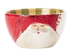 Vietri Old St. Nick Cereal Bowls - Red Hat