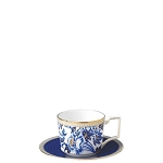Wedgwood Blue Hibiscus Teacup and Saucer