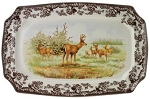 Woodland Wildlife by Spode Mule Deer Rectangular Platter