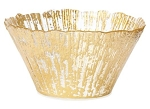 Vietri Rufolo Glass Gold Deep Bowl (Small)