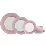 Mottahedeh Pink Lace 5 Piece Place Setting