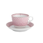 Mottahedeh Pink Lace Tea Cup and Saucer